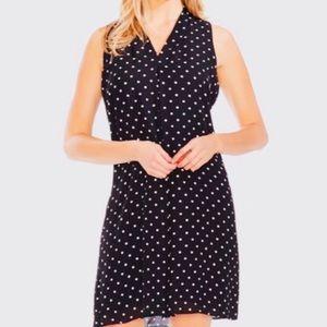 Vince Camuto Polka-Dot Print Dress NWT $99